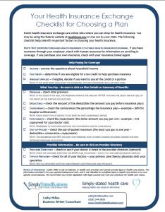 Health Insurance Exchange Checklist