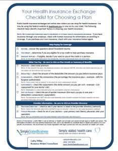 Health Insurance Exchange Checklist